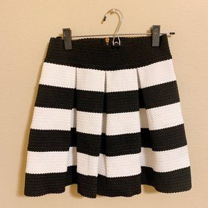 Agaci Striped Pleated Skirt